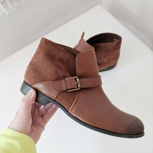 FRANCO SARTO Merit Suede & Leather Ankle Boots